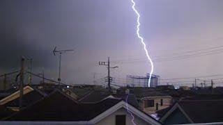 雷落ちまくり 激しい雷雨 2013年8月12日 東京・神奈川  Thunderbolt Tokyo Japan thumbnail