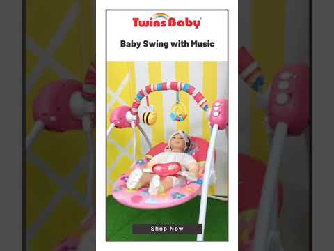Twins Baby - Baby Musical Electric Swing