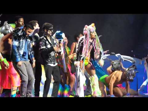 #ladygaga Invites Her Favorite Fans On Stage To #artPOP With Her, Houston 7/17/2014
