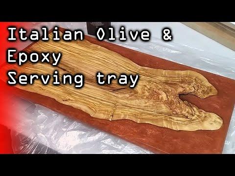 Spanish Olivewood epoxy chopping board