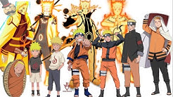 Naruto characters: Uzumaki Naruto's Evolution (All forms)