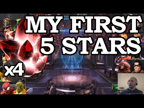 4 FIVE STAR CRYSTAL OPENING + MY THOUGHTS ON CURRENT 5 STARS | MARVEL CONTEST OF CHAMPIONS