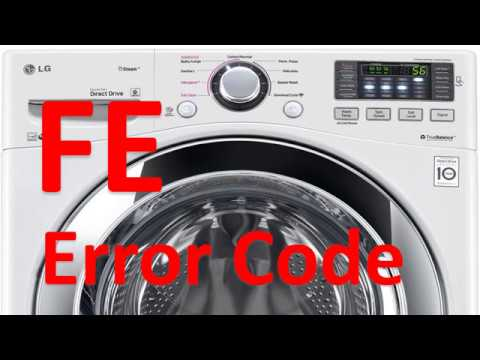 Fe Error Code Solved Lg Front Loading Washer Washing Machine Youtube