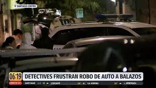 Detectives frustran robo a balazos en el centro de Santiago