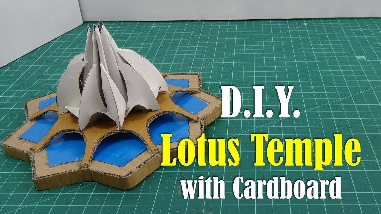 DIY: Lotus Temple with Cardboard - How to Make on diy home design blueprints, small space design ideas, recipe design ideas, travel design ideas, about me design ideas, education design ideas, living room design ideas, modern home bar design ideas, do it yourself design ideas, budget home design ideas, diy home design projects, crafts design ideas, gift design ideas, fun home design ideas, valentine's day design ideas, small home design ideas, simple living design ideas, crochet design ideas, kitchen design ideas, home made home decoration ideas,