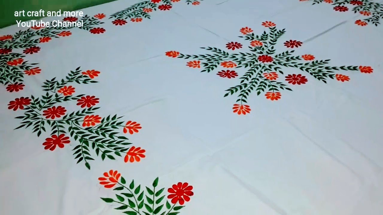 New Bed Sheets Design I Embroidery Designs Youtube