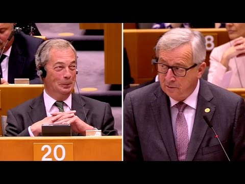 Juncker vs. Farage: The final battle