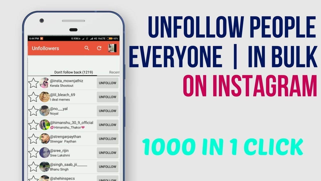 How To Unfollow Everyone on Instagram in 1 Click - Bulk Unfollow [Latest]  Unfollow App for Instagram