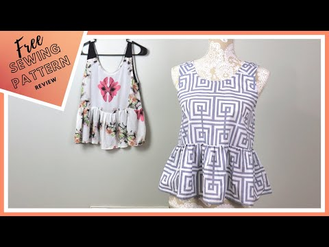 Peplum Top - Free Sewing Pattern Review Ep 3