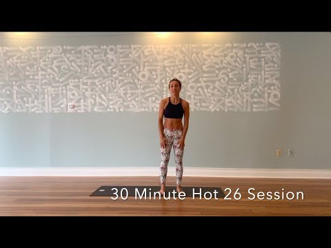 30 Minute Hot 26 Yoga Class - Hot Yoga Asheville - 12 Days of Sweat Mas