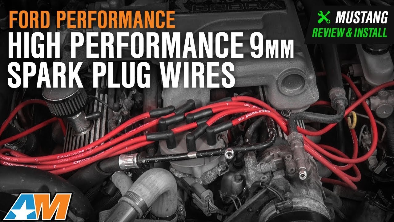 medium resolution of 1979 1995 mustang 5 0l ford performance high performance 9mm spark plug wires red review install