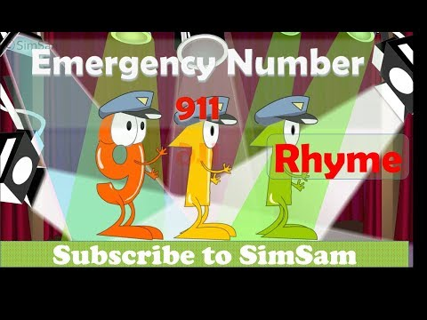 911 Emergency Number Rhyme for kids children toddlers  Teaching 911 Emergency Number