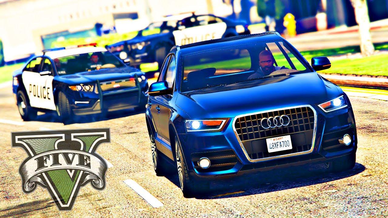 FUGA DA POLICIA DE AUDI Q3 - GRAND THEFT AUTO V - GTA V MODS