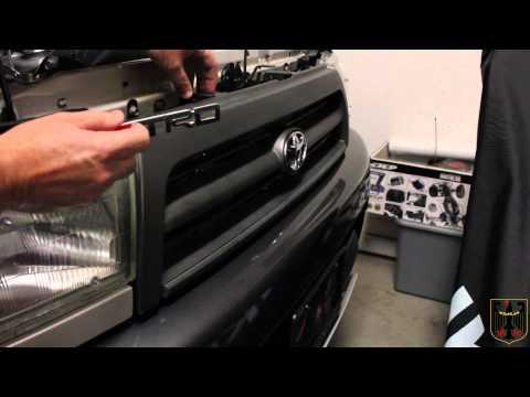 Toyota Trd Grille Emblem Installation Youtube