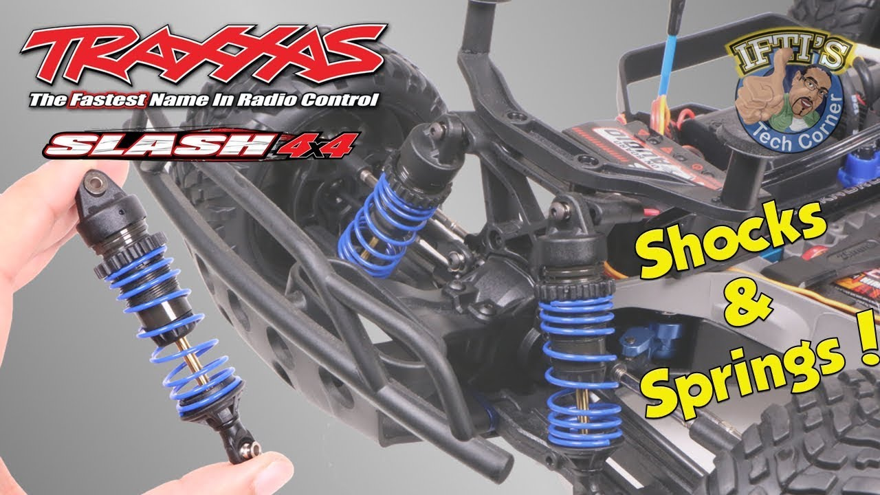 #12 Traxxas Slash 4X4 - GTR Shocks & VG Racing Springs - Prep & Install!
