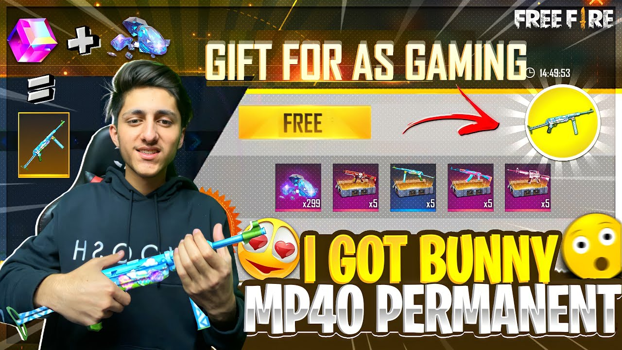 I Got Crazy Bunny🐰 Mp40 Permanent In One Spin😍 - Garena Free Fire
