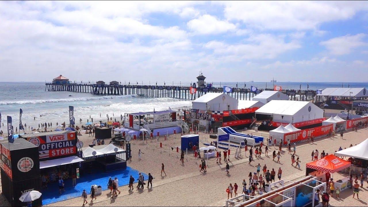 cd544626c0 Surfing at Huntington Beach Pier. Vans US Open 2017. Aug 5th - YouTube