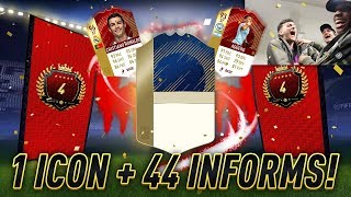 MY BEST PACK EVER!! ICON + 44 INFORMS! TOP 100 MONTHLY FUT CHAMPS REWARDS w/ SPENCER FC!