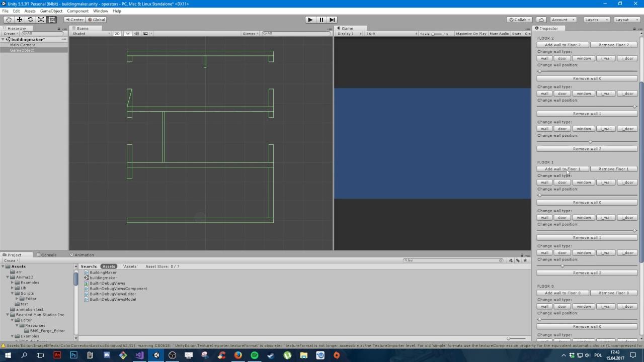 2D building generator preview