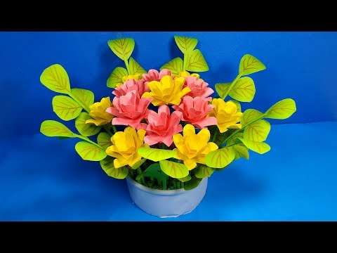 Paper Handcraft: How to Make Best Flower Bouquet for Table Decoration!!DIY|Jarine's Crafty Creation