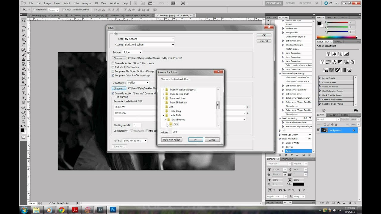 Edit how photoshop batch in to