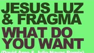 Jesus Luz & Fragma - What Do You Want (David Amo & Julio Navas Remix)