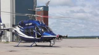 National Grid Bell 429 Helicopter Startup & Takeoff