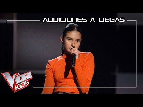 Irene Gil Canta 'Mamma Know Best'   Audiciones A Ciegas   La Voz Kids Antena 3 2019