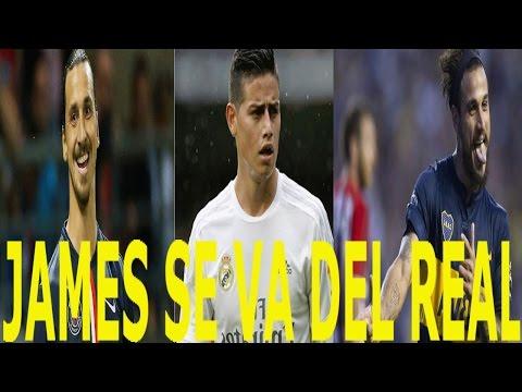 Noticias de fútbol: James se va del Real Madrid   Osvaldo despedido   Zlatan deja el PSG y más.