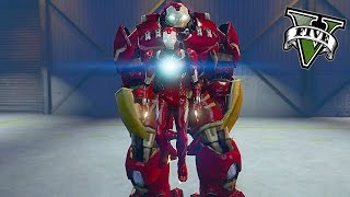 GTA 5 PC - The Iron Man and Hulkbuster ! (First Person Ironman Mod Gameplay)