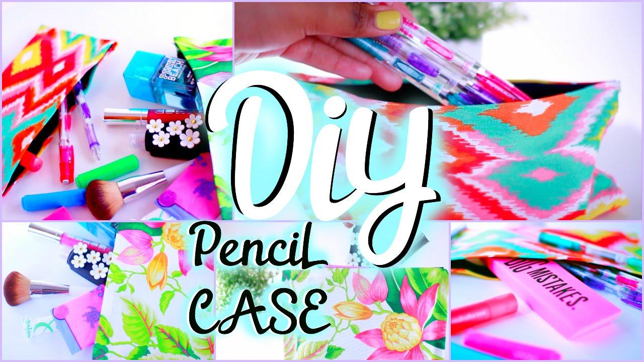 DIY School Supplies Pencil Pouch Locker Organizer YouTube - Cute diy school locker ideas
