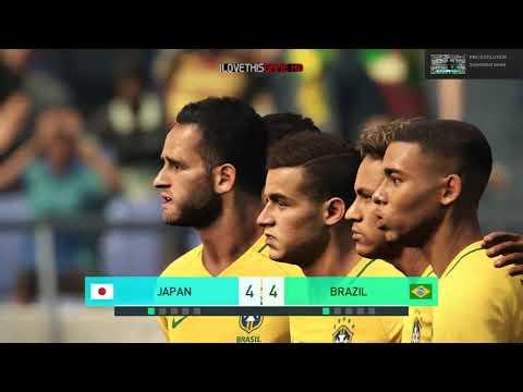 Japan vs Brazil I Friendly Match I PES 2018 Penalty Shootout