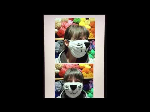 Learn To Make A Crocheted Appliqué Animal Face For Your Crocheted Surgical Dust Face Mask.