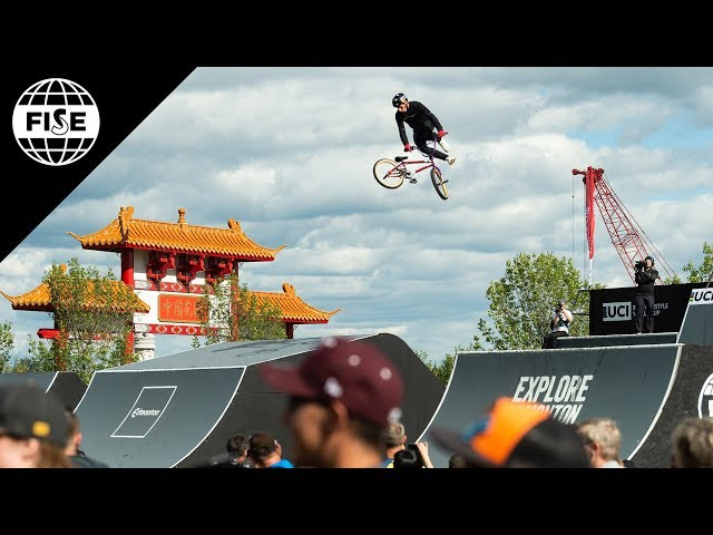 Jake Leiva Winning Run - UCI BMX Freestyle Park World Cup Semi Final | FISE Edmonton 2018
