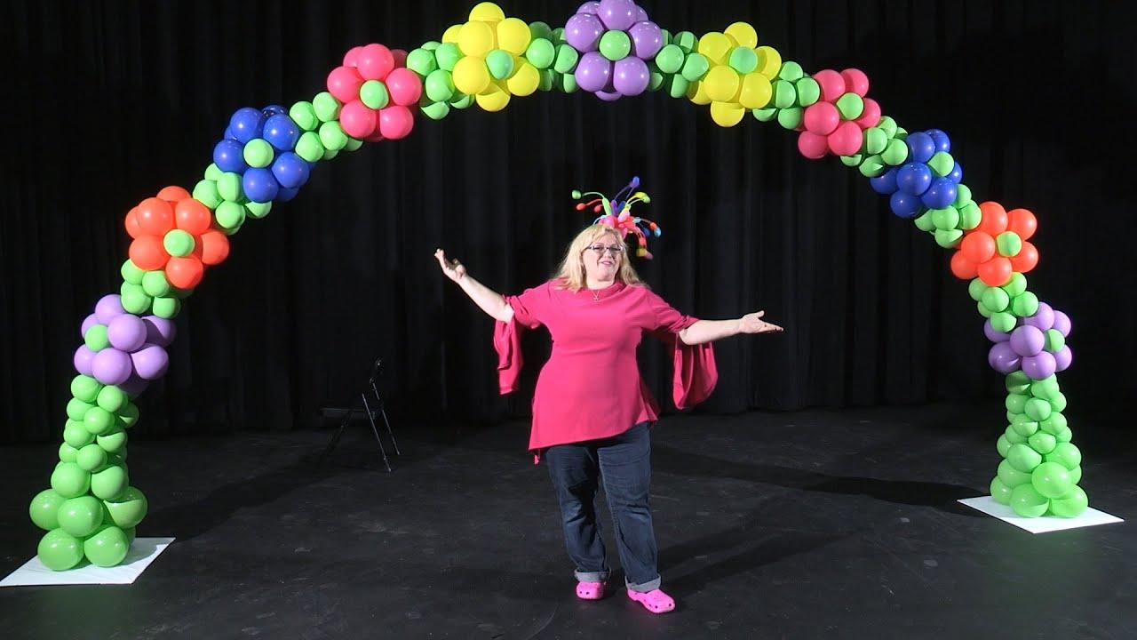 Balloon arch in a flower pattern diy tutorial youtube
