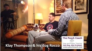 Klay Thompson Discusses Training his Dog Rocco