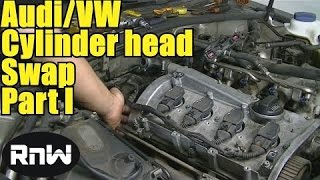 How to Remove and Replace a Cylinder Head - Audi A4 A6 VW Passat Jetta 1.8L Engine Part 1