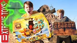 Treasure X Sunken Gold Pirate Ship! Can Ethan and Cole Break the Curse of Davy Jones!