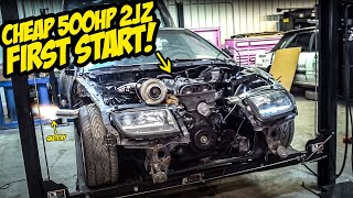 Starting Our Cheap 500HP 2JZ Nissan 300ZX For The FIRST TIME (SKETCHY)