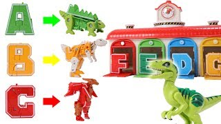 Alphabet Robot Transform To Dinosaur Robot - Dinosaurs Toys Movie for Kids