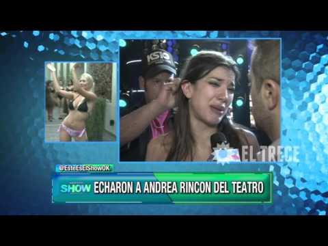 Echaron a Andrea Rincón de la obra de teatro