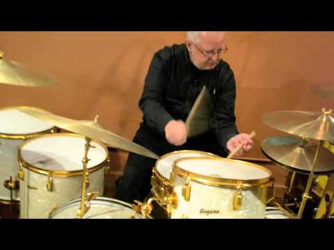 Steve Maxwell Vintage Drums - (Rogers Louie Bellson Kit w/Full Gold Hardware/Cymbals - 6/6/13)