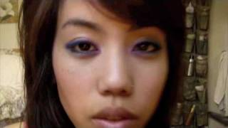 Eye shadow Tutorial: Bold dark and purple rimmed eyes - night look Thumbnail