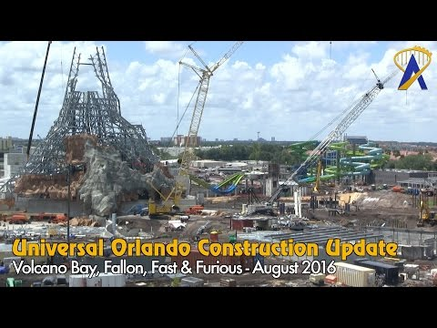 Universal Orlando Construction Update - Volcano Bay, Fallon, Fast & Furious - August 2016
