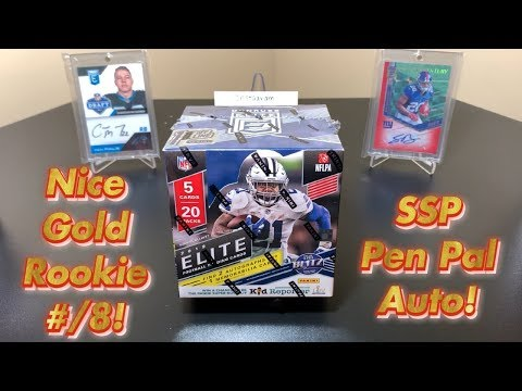 2019 Panini Donruss Elite Football FOTL Hobby Box Break - Nice Gold Rookie #/8 & SSP Pen Pal Auto!