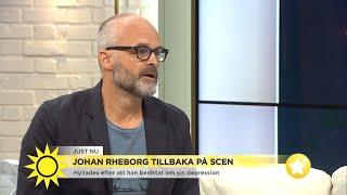 """Komikern Johan Rheborg om sin depression: """"Jag skäms inte men det är svårt att  - Nyhetsmorgon (TV4)"""