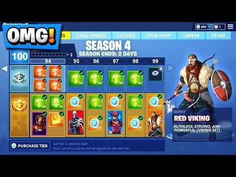Fortnite Season 5 Battle Pass SKINS And EMOTES! | *NEW* Viking, Alien, Leaks!