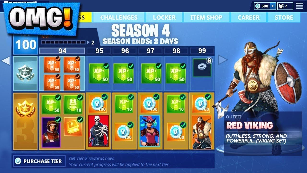 Fortnite Season 5 Battle Pass SKINS and EMOTES! | *NEW ...