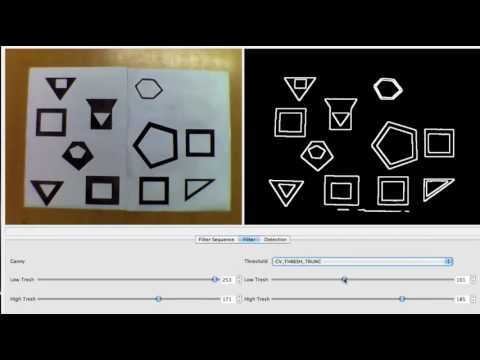 opencv detecting shapes - YouTube