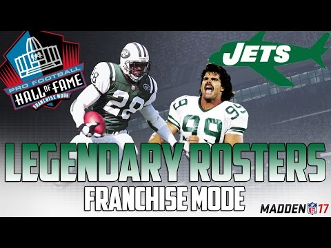 Legendary New York Jets Roster | Madden 17 Connected Franchise | Joe Namath + Curtis Martin